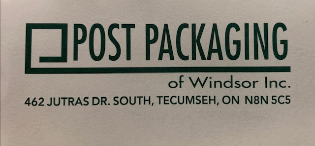 Post Packaging of Windsor